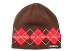 2014 high quality knit fashion 100% acrylic beanie with patch