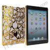 Electroplated Hard Case for iPad Mini/Retina, Plating Hollow Flower Cover Case For iPad Mini/Retina