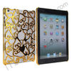 Electroplated Hard Case for iPad Mini/Retina, Plating Hollow Flower Cover Case For iPad Mini/Retina