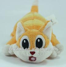 plush animals /plush breathing cat toy