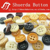 imitation wooden shirt button & matt finish(s6231)