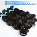 Guangzhou 100% cabelo virgem brasileira, cabelo humano remy importadores