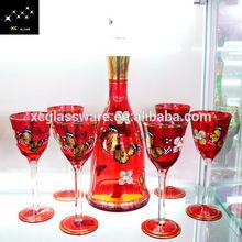 New Design High Crystal Decorative Corked Wine Glass Bottles 500ml For Brandy Wholesaler