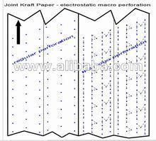 Sack Kraft Paper Product Logo Electrostatic Perforation