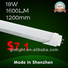 Chinese led tube light t8 1.2m 18W cheap price