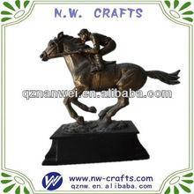 Unique horse head ornament statue