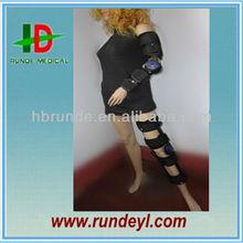 Hinged orthopedic knee support