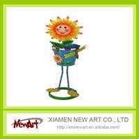 Wholesales Metal Garden Flower Pot with flower face