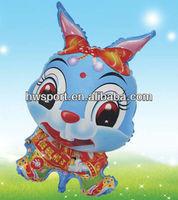 Rabbit mylar balloon custom aluminium foil balloon