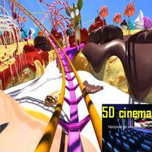 Game simulator 5D Roller Coaster