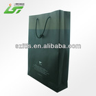 fashion glossy black paper shopping bag