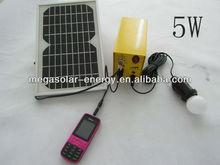 5W mini Stand Alone Solar Lighting Kits