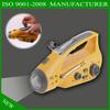 solar crank led flashlight & dynamo flashlight charger & crank radio