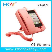 Wired Pop Anti-Radiation Retro Phone Handset,Handset Holder for Smartphone/mobile phones/Iphone