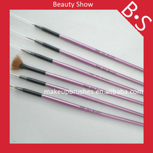 Private labeling nail art brush paintings set, beauty needs cosmetic makeup brush for gel nail