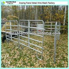 "64"" height round pen 1.66"" x 16 Gauge rail portable cattle yard panel"