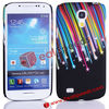 For S4 Mini Back Shells!Colorful Meteor Shower Design Plastic Case for Galaxy S4 Mini i9190