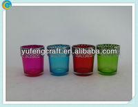 handicraft glass bottle crystal candelabra