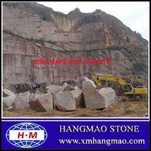 Own quarry rough maple red granite block