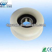 Sliding steel wood composite door hanging roller track wheel