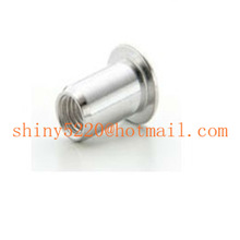 rivet internal threaded 1/4-20 nut insert white zinc