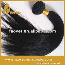 AAAAA grade human hair,cheap brazilian hair weaving,natural color silky straight wave hair extensions