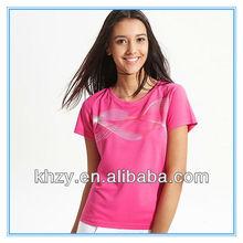 2013 hot sell women short sleeve t shirt ,custom promotional t shirt ,high end brand t-shirts