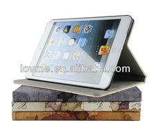 World Maps retro book PU stand leather case cover for Apple ipad mini