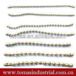 Wholesale brass ball chain