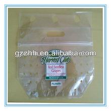 2013 zip lock plastic fruit bag,food packaging fruit bag