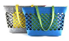 beauty hollow out wholesale felt carry bag