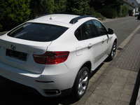 Used BMW X6 40d New Car, no kilometers White/Leather Red