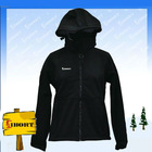 JHDM-3205 womens 320gsm face softshell jacket with microfleece liner