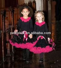 Halloween Design black red super chiffion pettiskirt for girls for Halloween