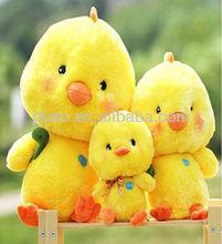 Cute Plush Yellow Chicken Toy