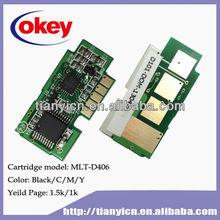 for Samsung MLT-406 toner chip CLP -360/362/363/364/365/365W/367W/368,CLX-3300/3302/3303/3303FW/3304/3305/3305FW/3307FW
