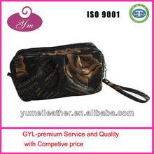 2013 Guangzhou China fashion black cosmetic bag promotional bag handbag