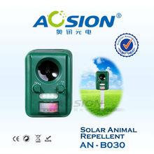 Solar powered ultrasonic bird control product bird animal repellent
