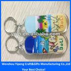 2014 bali souvenir plastic keychain,custom plastic key chain