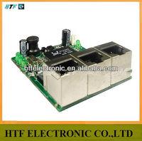 Cusotmized OEM 3 Port 10/100M mini design Unmanaged Half-Full duplex Lay2 PCBA Module 3P Network Fast Ethernet SWITCH 3p