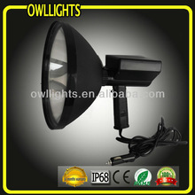 "Super Bright! 9"" 240mm reflector 75w Hand held hid Hunting Spotlight,HID handheld search spot light with 12V cigar lighter"