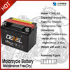 YTX4L-BS maintenance free lead acid battery for 125cc motorcycle parts
