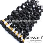 Full head natural color virgin brazilian loose wave hair weave