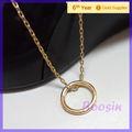 Grosso banhado a ouro flutuante locket charm colar colar de corrente #14589