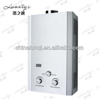 white panel instant hot tankless shower water heater with low pressure