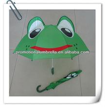 Cute flog umbrella, cartoon umbrella, animal shape umbrella