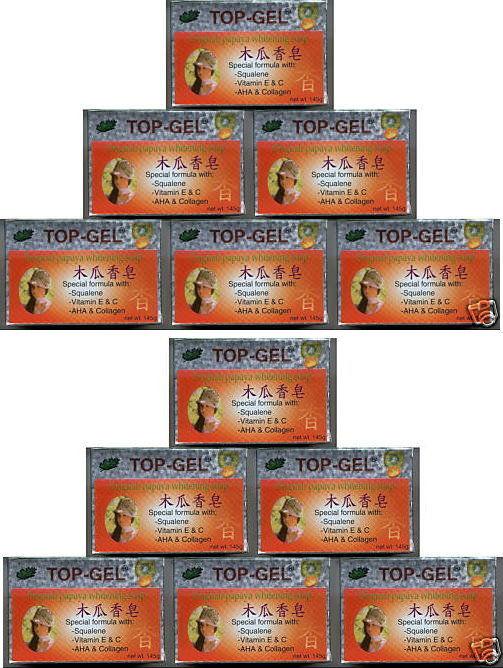 12 Top Gel Papaya Whitening Soap