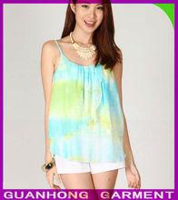 2014 Latest Fashion Watercolor Drapes Women's Fashion Tops