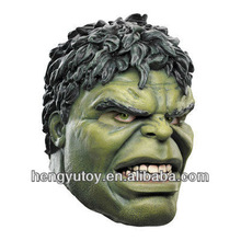 Eco-friendly Avengers latex reslistic character Hulk mask for party cosplay