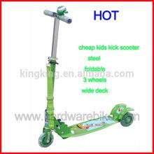 2015 cheap steel foldable wide deck kids kick scooter (HDKS-T009)